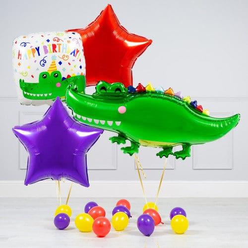 Комплект из шаров Крокодил Звезды и шары на пол.j