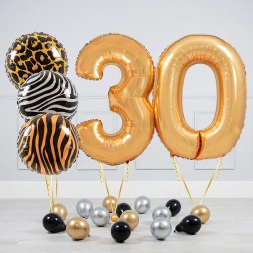 Комплект шаров Сафари и Золото на 30 лет