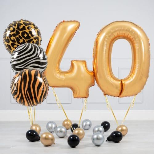 Комплект шаров Сафари и Золото на 40 лет