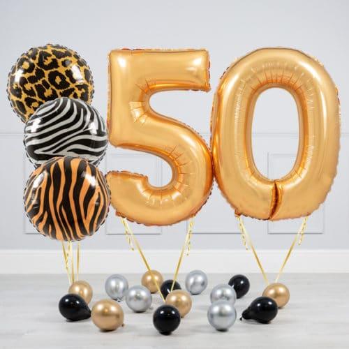 Комплект шаров Сафари и Золото на 50 лет
