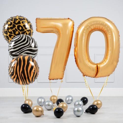 Комплект шаров Сафари и Золото на 70 лет