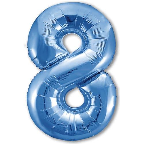 Шар 102 см Цифра 8 Slim Синий