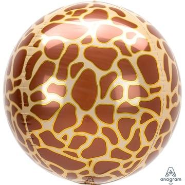 Шар 40 см Сфера 3D Жираф Сафари