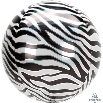 Шар 40 см Сфера 3D Зебра Сафари