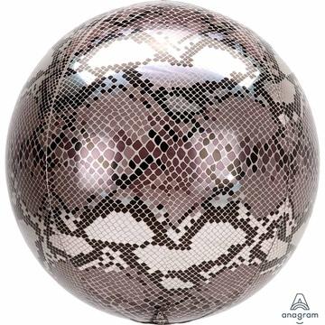 Шар 40 см Сфера 3D Змеиная кожа Сафари
