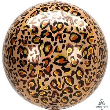 Шар 40 см Сфера 3D Леопард Сафари