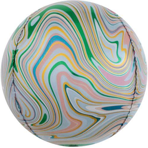 Шар 61 см Сфера 3D Мраморная иллюзия Разноцветный Агат