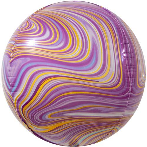 Шар 61 см Сфера 3D Мраморная иллюзия Розовый Агат