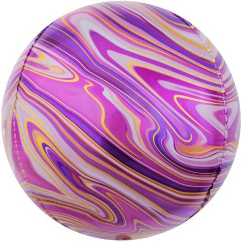 Шар 61 см Сфера 3D Мраморная иллюзия Фуше Агат
