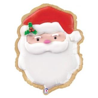 Шар 61 см Фигура Новогоднее печенье Санта
