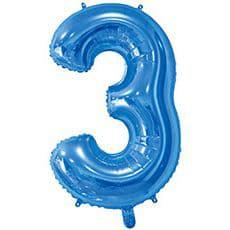 Шар 66 см Цифра 3 Синий