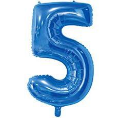 Шар 66 см Цифра 5 Синий