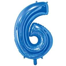 Шар 66 см Цифра 6 Синий