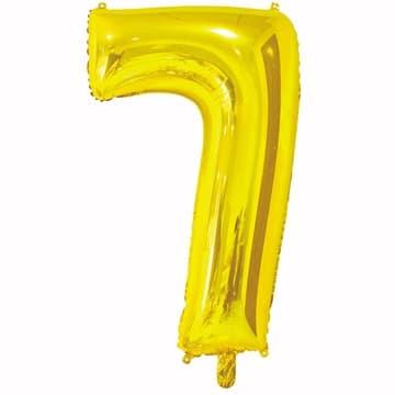 Шар 66 см Цифра 7 Золото