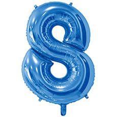 Шар 66 см Цифра 8 Синий