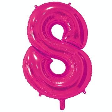 Шар 66 см Цифра 8 Фуксия