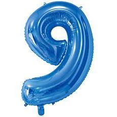 Шар 66 см Цифра 9 Синий