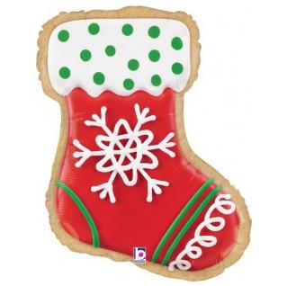 Шар 69 см Фигура Новогоднее печенье Носок для подарков