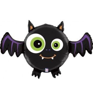 Шар 71 см Фигура Летучая мышь Черный