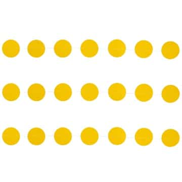 Гирлянда на нитке Круги Жёлтые 2,2 м