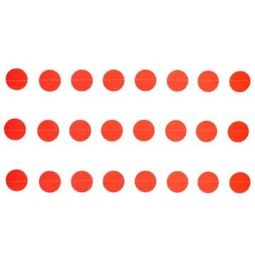 Гирлянда на нитке Круги Красные 2,2 м