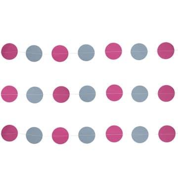 Гирлянда на нитке Круги Розовый Туман 2,2 м