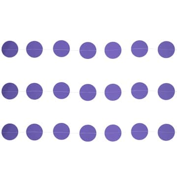 Гирлянда на нитке Круги Фиолетовые 2,2 м