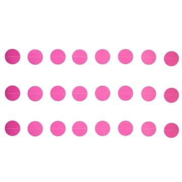 Гирлянда на нитке Круги Ярко-Розовые 2,2 м