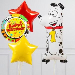 Комплект из шаров с Цифрой Животные Цифра 1 Собака
