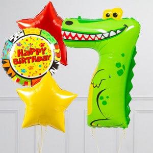 Комплект из шаров с Цифрой Животные Цифра7 Крокодил