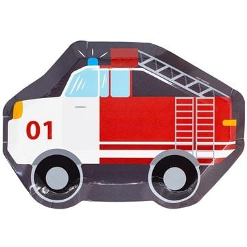 Тарелка фигурная 25 см Пожарная Машина 6 штук