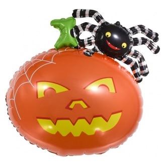 Шар 30 см Мини-фигура Тыква и паук