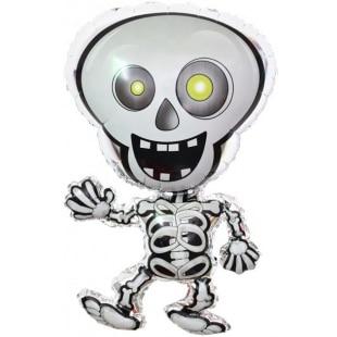 Шар 33 см Мини-фигура Танцующий скелет