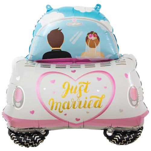 Шар 74 см Фигура Молодожены Свадебный автомобиль