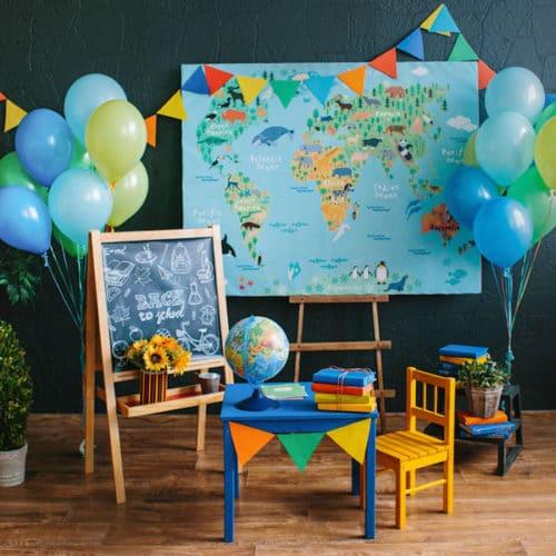 Комлект для украшения праздника в школе 2 фонтана из шаров