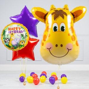Комплект из шаров Голова Жирафа Звезды и шары на пол