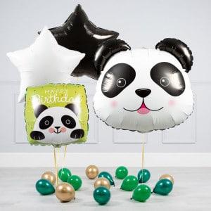 Комплект из шаров Голова Панды Звезды и шары на пол