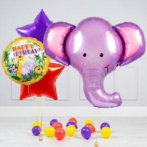 Комплект из шаров Голова Слона Звезды и шары на пол