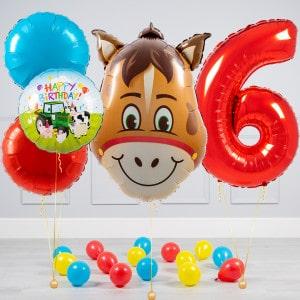 Комплект из шаров шаров Голова Лошади и Круги и шары на пол на 6 лет