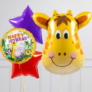 Связка из шаров Голова Жирафа Звезды
