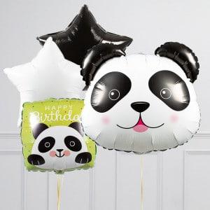 Связка из шаров Голова Панды Звезды