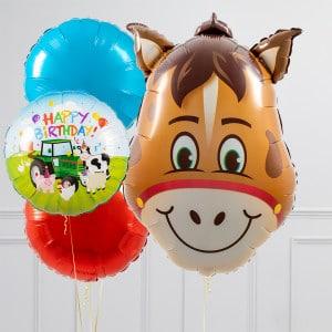 Связка из шаров шаров Голова Лошади и Круги