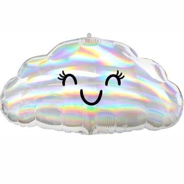 Шар 58 см Фигура Облако с глазами переливы