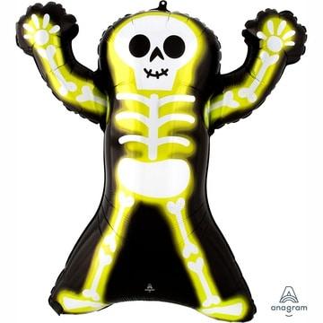 Шар 76 см Фигура HWN Скелет Неон