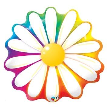 Шар 79 см Фигура Цветок Ромашка радуга