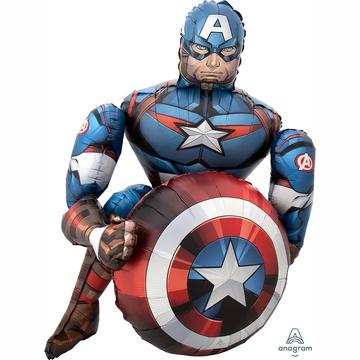 Шар 99 см Ходячая фигура Мстители Капитан Америка