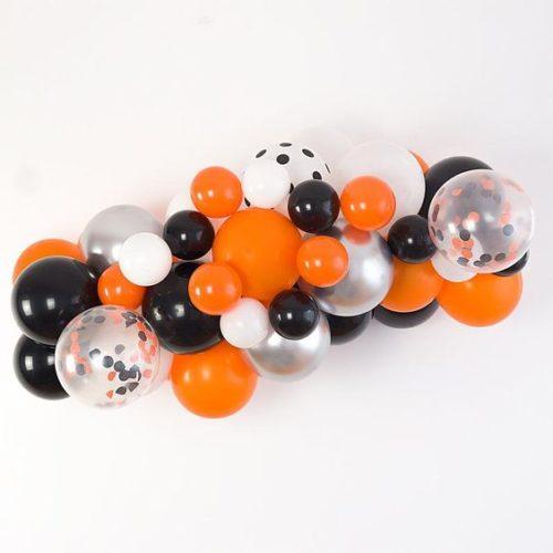 Гирлянда из воздушных шаров на Хеллоуин Оранжевый Черный