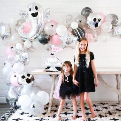 Гирлянда из воздушных шаров на Хеллоуин Розовый Нежный Ужас