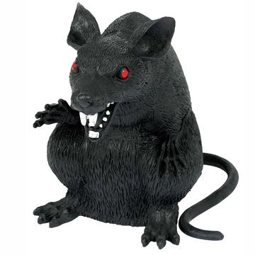Крыса черная пластик 15 см
