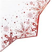 Салфетка фигурная 33 х 33 см Снежные Искры 6 штук